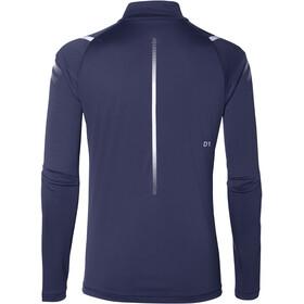 asics Icon LS 1/2 Zip Top Damen indigo blue/silver